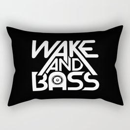 Wake And Bass (White) Rectangular Pillow