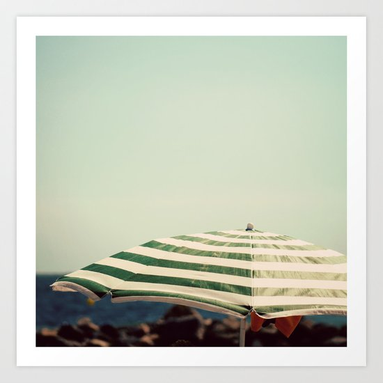 """""""Going around under an umbrella interferes with one's looking up at the sky."""" Art Print"""
