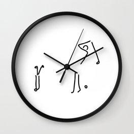 golfer on golf course Wall Clock