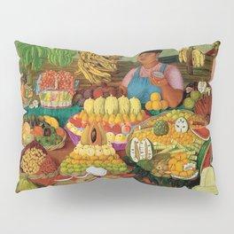 Las vendedoras de frutas by O. Costa Pillow Sham