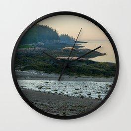 Acadia Beach Landscape Vertical Print Wall Clock