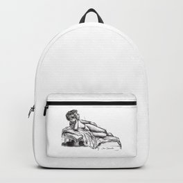 Reclining nude drawing from a live model Backpack