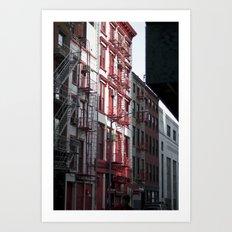 Red & Black Art Print
