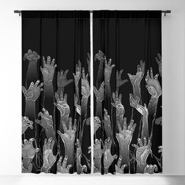 Halloween Horror Zombie Hand Pattern Blackout Curtain