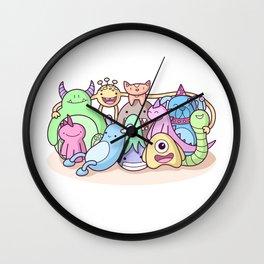 Monster Family Photo Wall Clock