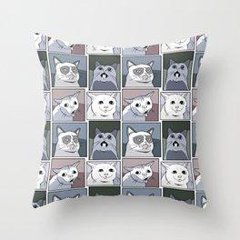 Kitten Characters Throw Pillow