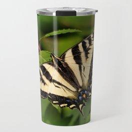 Western Tiger Swallowtail in the Garden Travel Mug