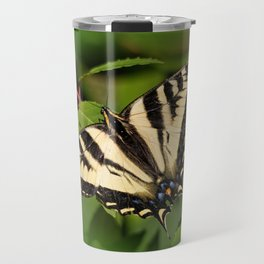 Western Tiger Swallowtail in the Garden Travel Mug