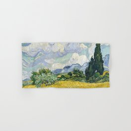 Wheatfield Wth Cypresses Van Gogh July 1989 Hand & Bath Towel