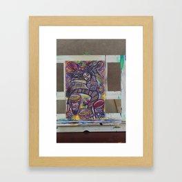 Tied to Dark Framed Art Print