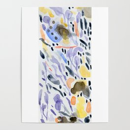 Yellows and purples in watercolor Poster