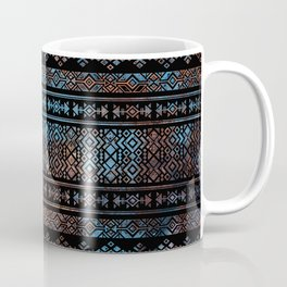 Bronze and Rust Vintage  Aztec Peruvian Tribal Pattern Coffee Mug