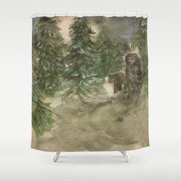 The Beautiful Darkness Shower Curtain