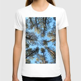 Watercolor Tree, Under, Conifer 01, Janes Island, Maryland T-shirt