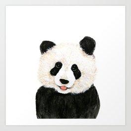 naughty little panda Art Print