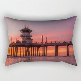 Winter Firesky Rectangular Pillow