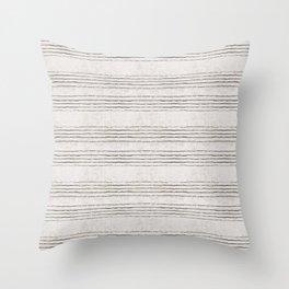 LINEN STRIPE RUSTIC Throw Pillow