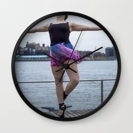 Waterfront Ballet Breeze Wall Clock