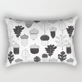 Acorns and oak leaves autumn pattern Rectangular Pillow