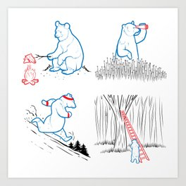 DA BEARS - A GOOD DAY Art Print