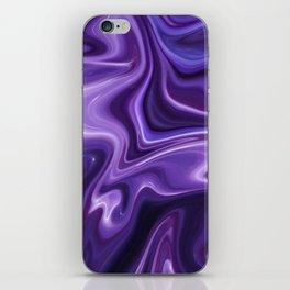 Purple Marble Design iPhone Skin