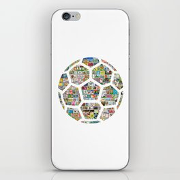 Philately Soccer Ball iPhone Skin
