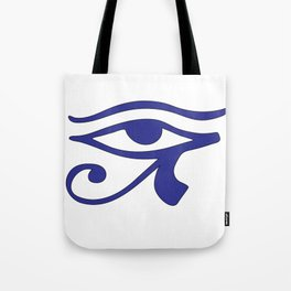 Eye of Horus Blue Wedjat Tote Bag