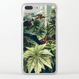 Beautiful Begonias Clear iPhone Case