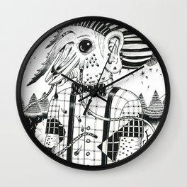 camarón indi Wall Clock