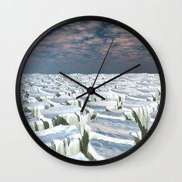Fragmented Landscape Wall Clock