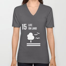 15 Life On Land Global Goals  Unisex V-Neck