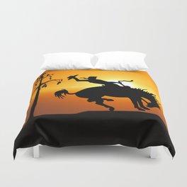 cowboy silhouette Duvet Cover