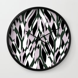 Blush Jungle Abstract Wall Clock