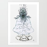 cthulu Art Prints featuring Cthulu Invades Spirituality Part 2 by radixrising