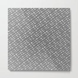 White Arrow Metal Print