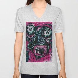 Pink Crazy Fella Unisex V-Neck
