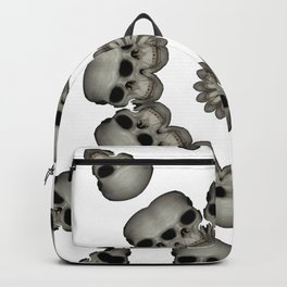 Creepy Human Skull Mandala Backpack