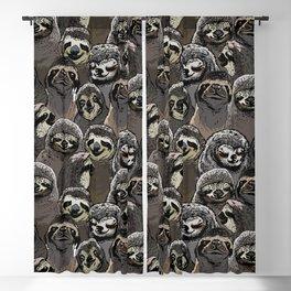 Social Sloths Blackout Curtain