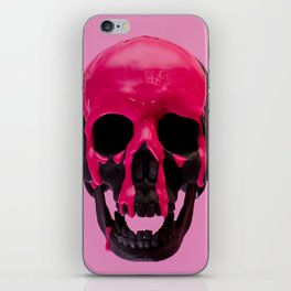 Pink Dripping Skull iPhone Skin