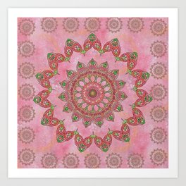 Knotted Floral Art Print