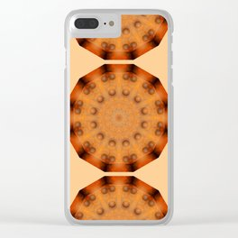 Rust-Art / mandala-style-rust Clear iPhone Case