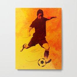 Heat of Football Metal Print