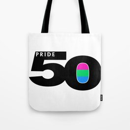 50 Pride Polysexual Pride Flag Tote Bag