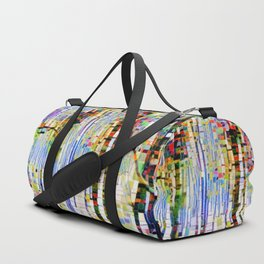 Winter Woods Abstract Duffle Bag