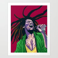 rasta Art Prints featuring Rasta by Kyu Shim