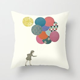 Party Girl Throw Pillow