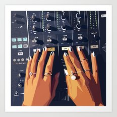 HB DJ Nails Art Print