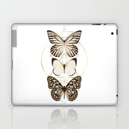 butterflies and gold geometry Laptop & iPad Skin