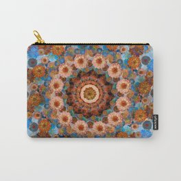 Happy light blue background Carry-All Pouch
