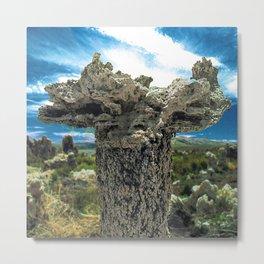 Mono Lake, California - Tufa Formation in Desert Metal Print